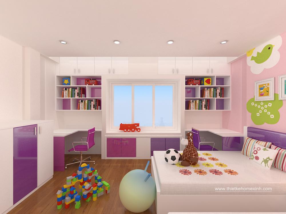 Thiết kế phòng ngủ trẻ em - nhà anh Vũ 02