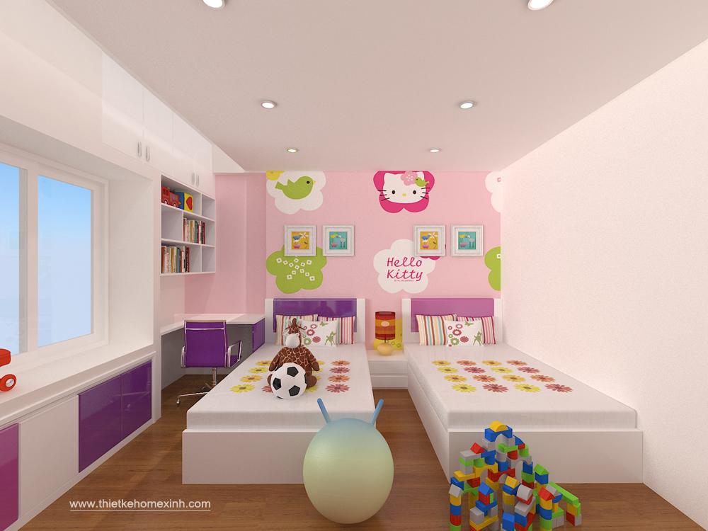 Thiết kế phòng ngủ trẻ em - nhà anh Vũ