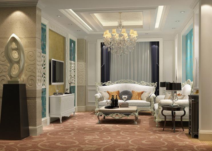Mẫu thiết kế nội thất phòng khách phong cách tân cổ điển
