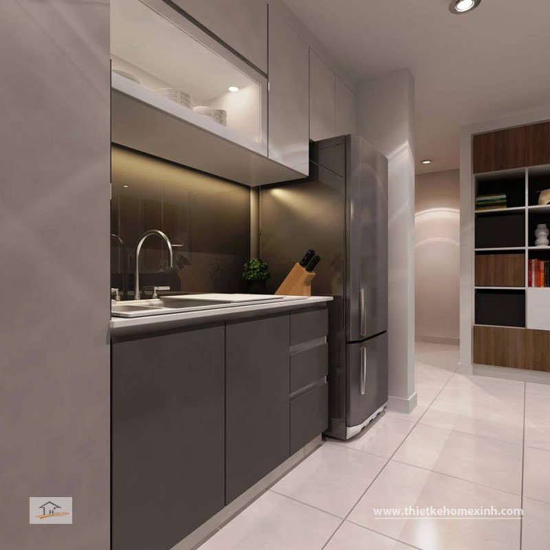 Không gian tủ bếp của căn hộ