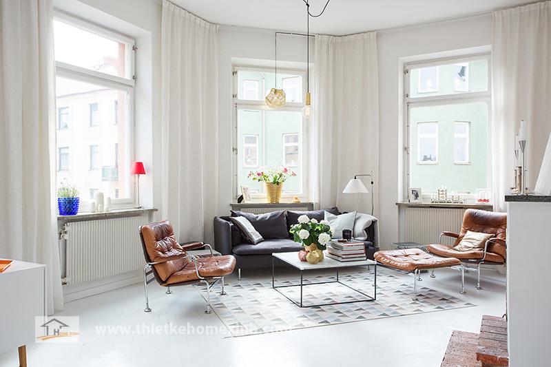 Hình 1: Thiết kế nội thất phòng khách biệt thự đẹp