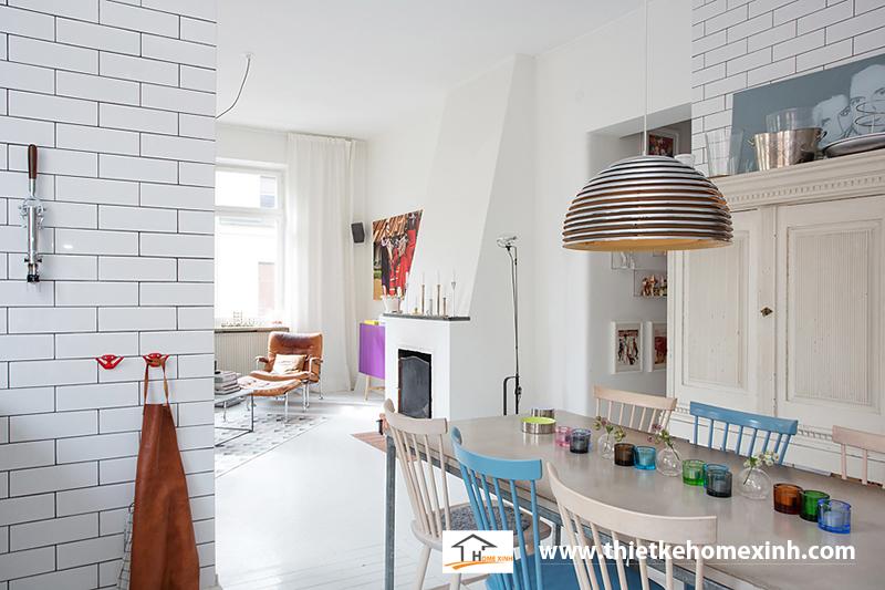 Hình 2: Thiết kế nội thất phòng ăn biệt thự