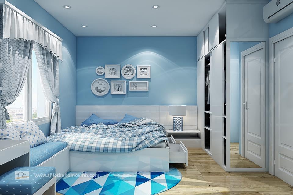 Hình 1: Thiết kế nội thất phòng ngủ