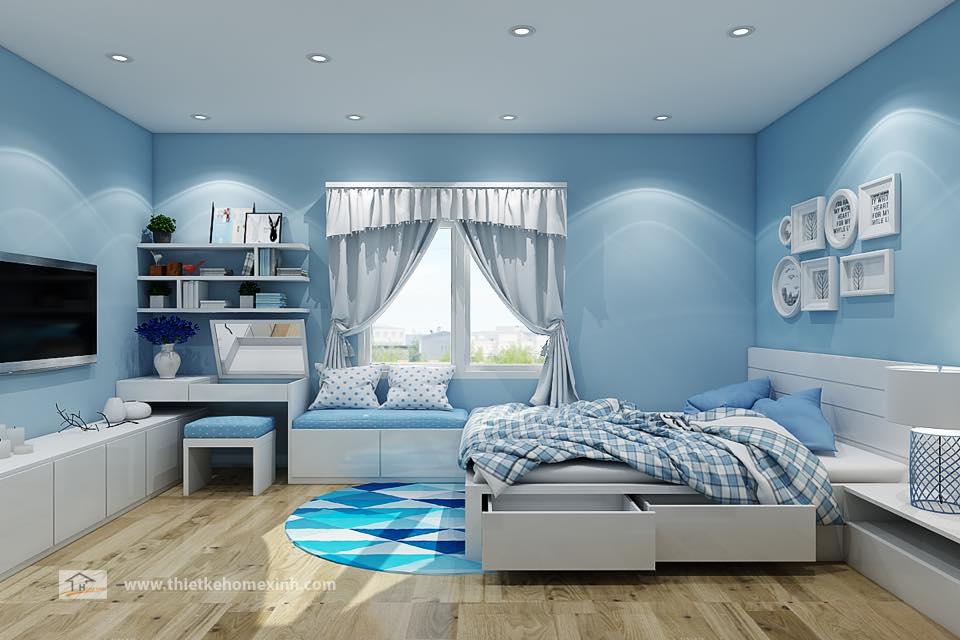 Hình 2: Thiết kế nội thất phòng ngủ