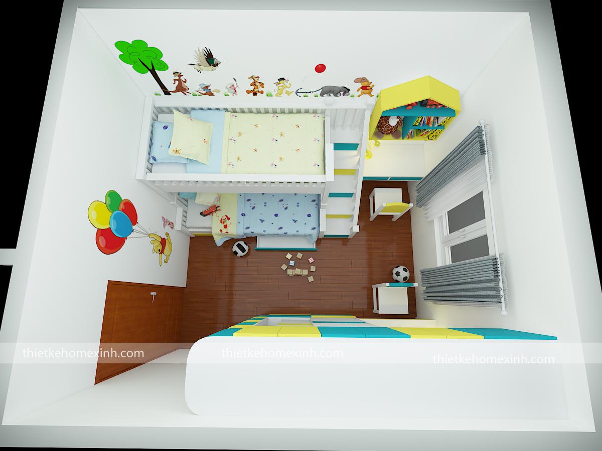 Mặt bằng tổng thể phòng ngủ của bé