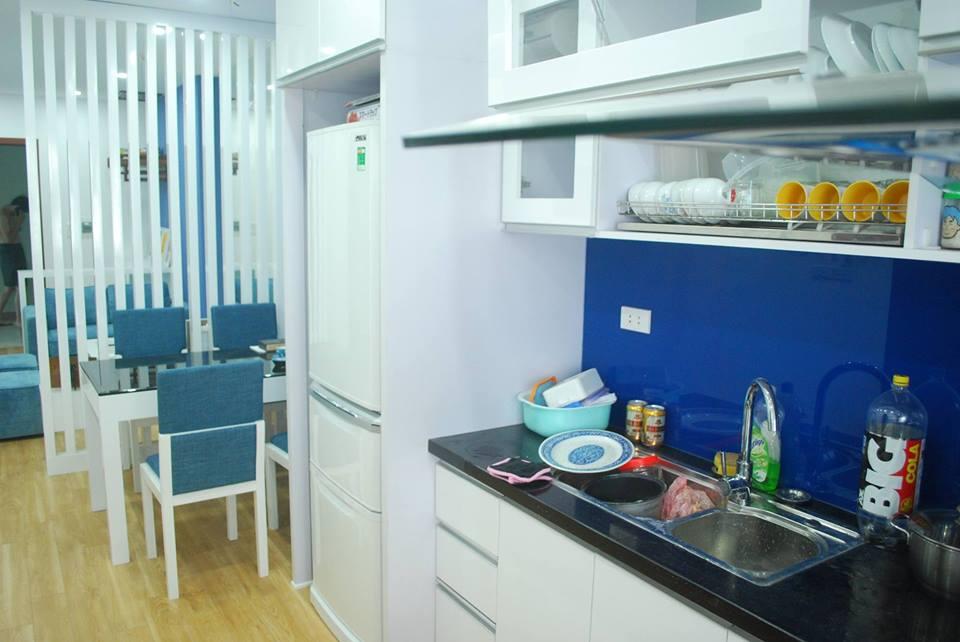 Thi công nội thất phòng bếp chung cư tại Linh Đàm