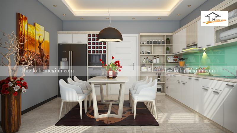 Thiết kế nội thất phòng bếp nhà ống - Hà Nội 02