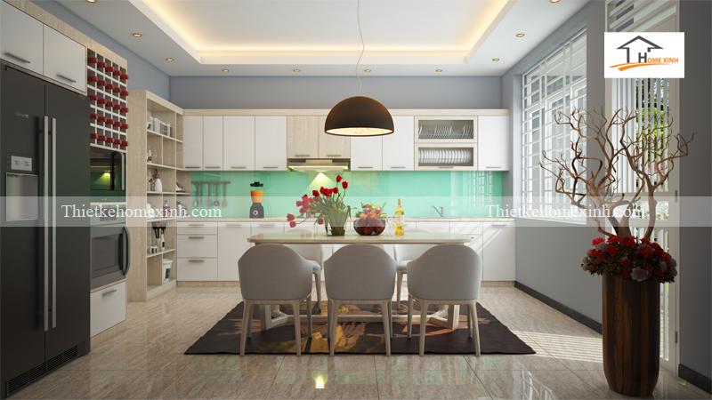 Thiết kế nội thất phòng bếp nhà ống - Hà Nội 01