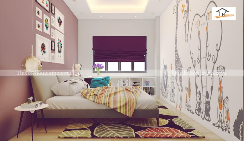 Thiết kế nội thất phòng ngủ tông màu đẹp và cá tính