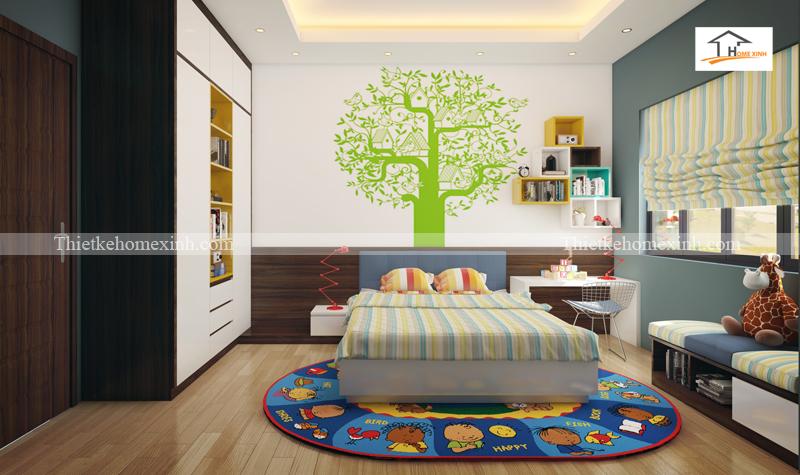 Thiết kế nội thất phòng ngủ cho bé trai 01