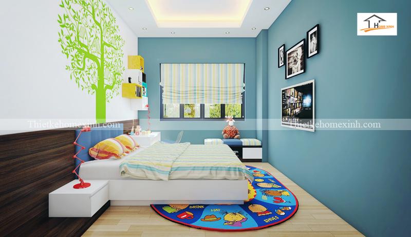 Thiết kế nội thất phòng ngủ cho bé trai 02