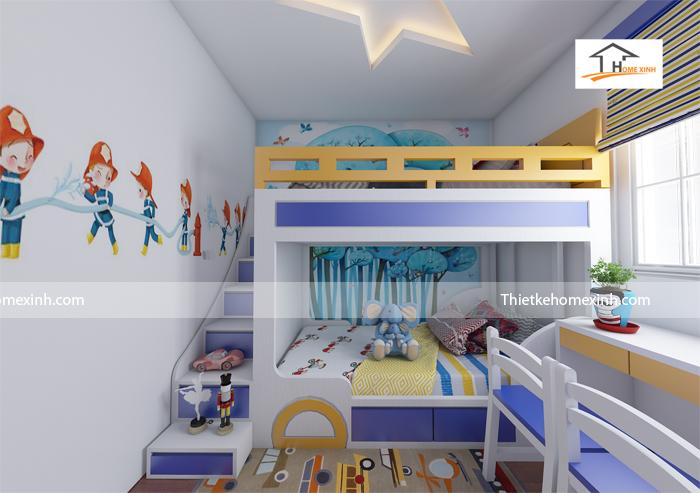 Thiết kế mẫu phòng ngủ trẻ em 01