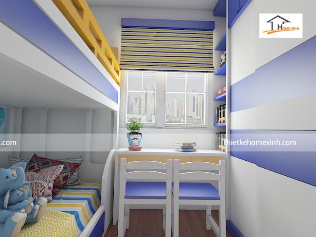Thiết kế mẫu phòng ngủ trẻ em 02