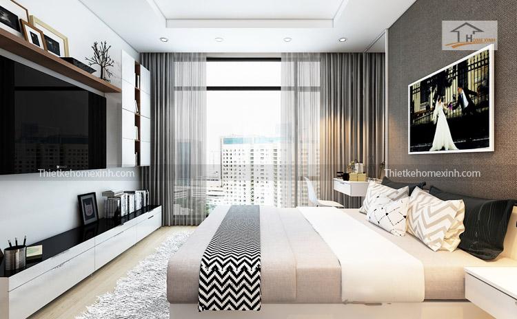 Ảnh 01: Thiết kế nội thất phòng ngủ - R6 Royal city