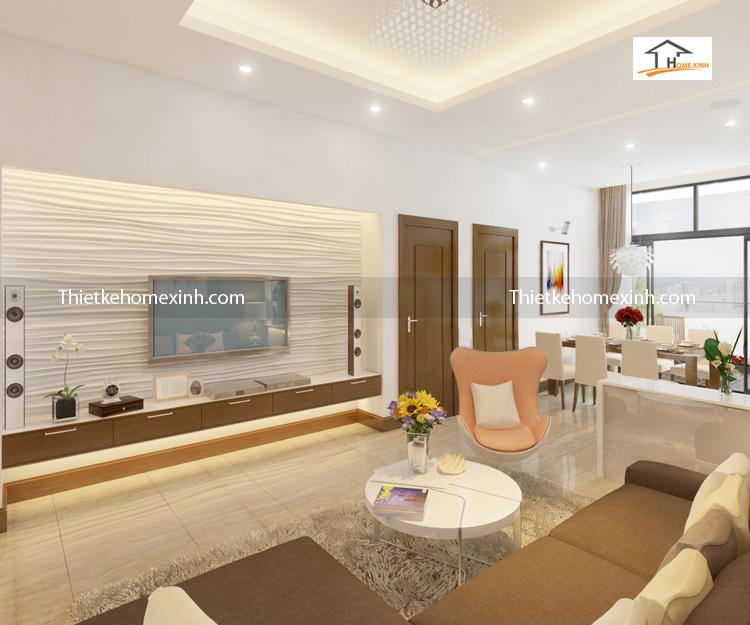 golden lande can ho 99m phong khach newspace 10 - Thiết kế nội thất phòng khách chung cư Golden-Lande