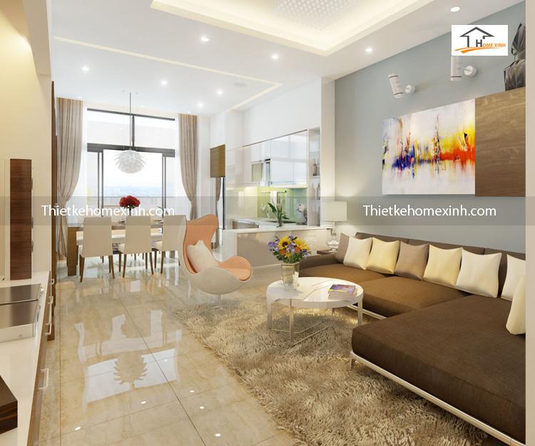 golden lande can ho 99m phong khach newspace 9 - Thiết kế nội thất phòng khách chung cư Golden-Lande