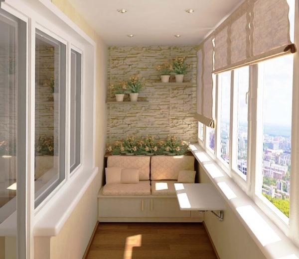 Đối với các căn hộ thì chiếc Sofa ốp tường là cách tận dụng không gian ban công khá lý tưởng. Đây cũng là một góc thư giản lí tưởng mà nhiều người mong muốn.