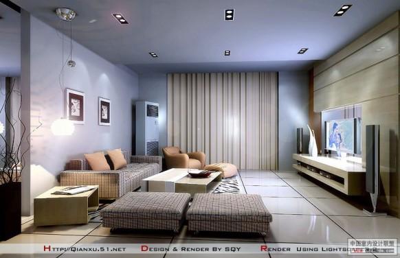 Thiết kế kệ tivi phòng khách đẹp - thiết kế homexinh
