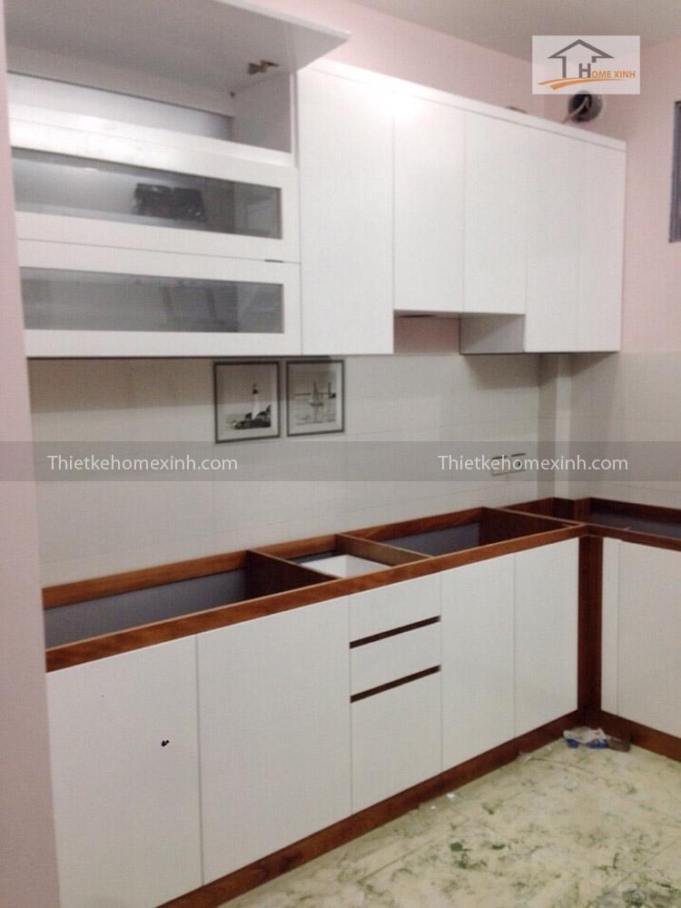 Hình ảnh 01: Thi công tủ bếp cho khách hàng - Chị Lợi ở Gia Lâm