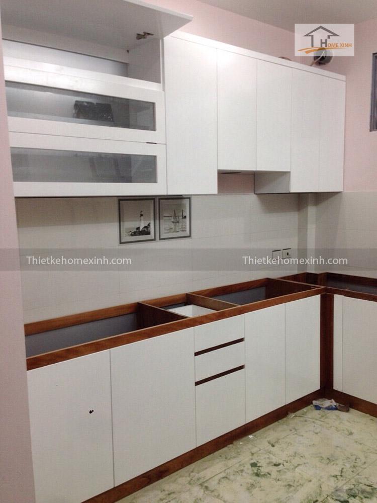 Hình ảnh 02: Thi công tủ bếp cho khách hàng - Chị Lợi ở Gia Lâm