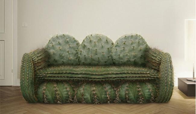 Ghế sofa này thì ngồi thế nào đây nhỉ? Trông thế thôi nhưng chiếc sofa này lại rất êm với phần gai nhọn được làm từ lông mềm dễ chịu.