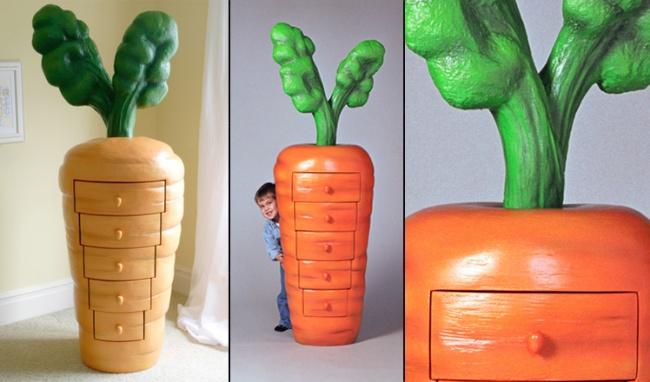 Tủ quần áo cà rốt như trong những bộ phim hoạt hình hay câu chuyện cổ tích ngộ nghĩnh