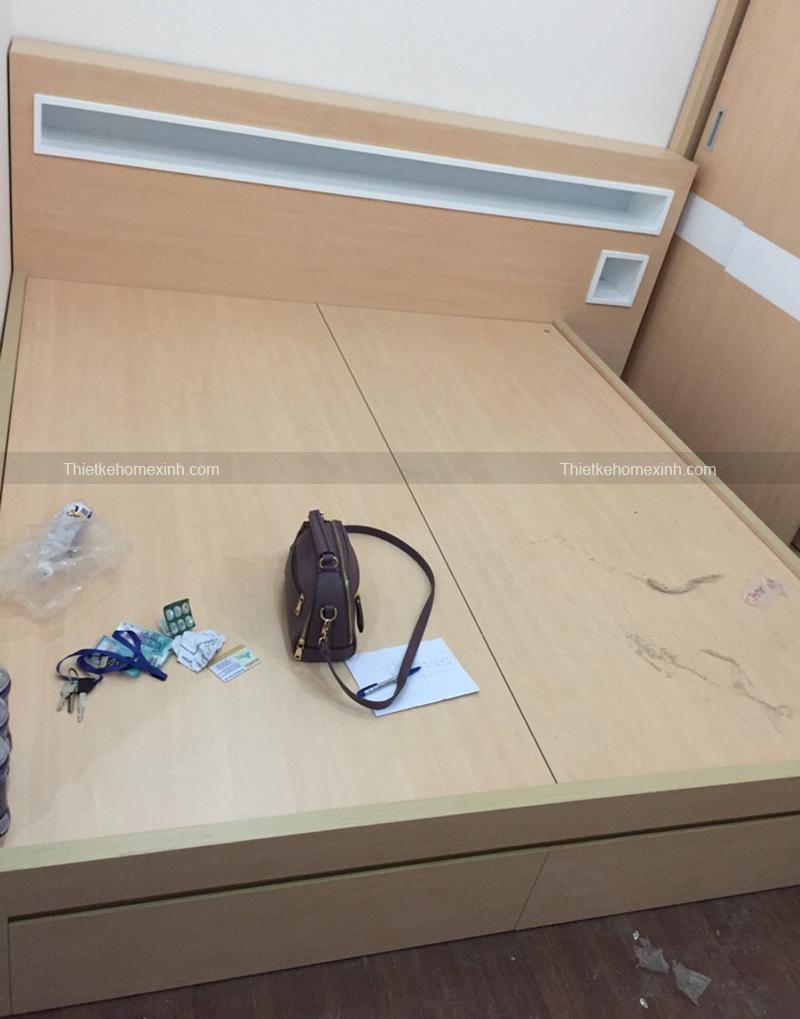 Hình ảnh 3: Sản phẩm nội thất phòng ngủ được thi công bằng chất liệu MFC An Cường