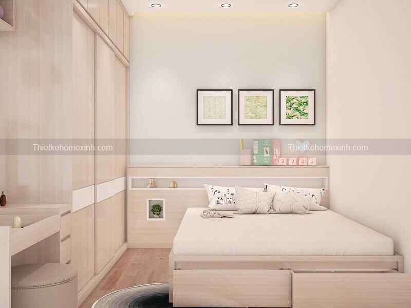 Hình ảnh 1: Thiết kế nội thất phòng ngủ chung cư greenstar