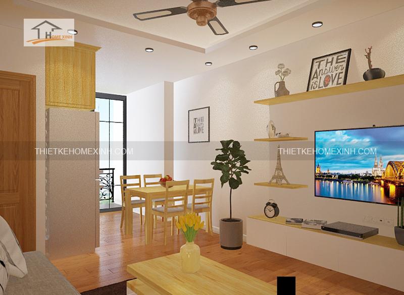 Thiết kế nội thất phòng khách bếp 2