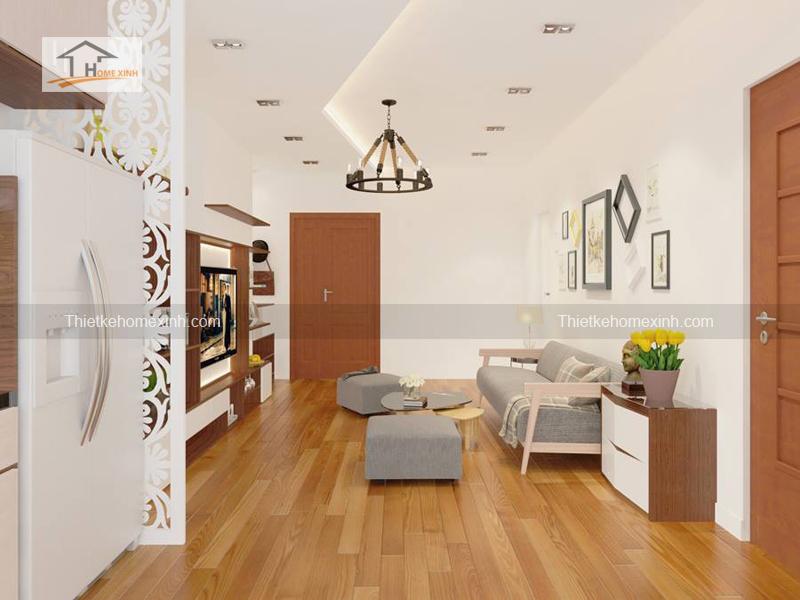 khach5 - Thiết kế nội thất phòng khách chung cư tại Hà Nội