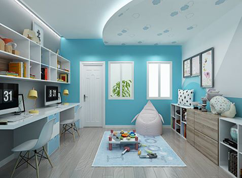 Nội thất phòng ngủ trẻ em với màu sắc sinh động 01