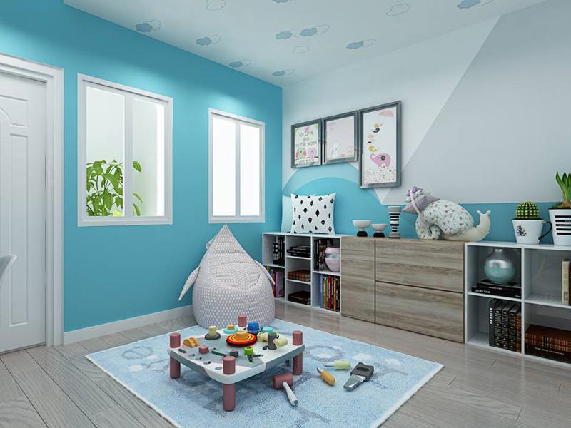 Nội thất phòng ngủ trẻ em với màu sắc sinh động 02