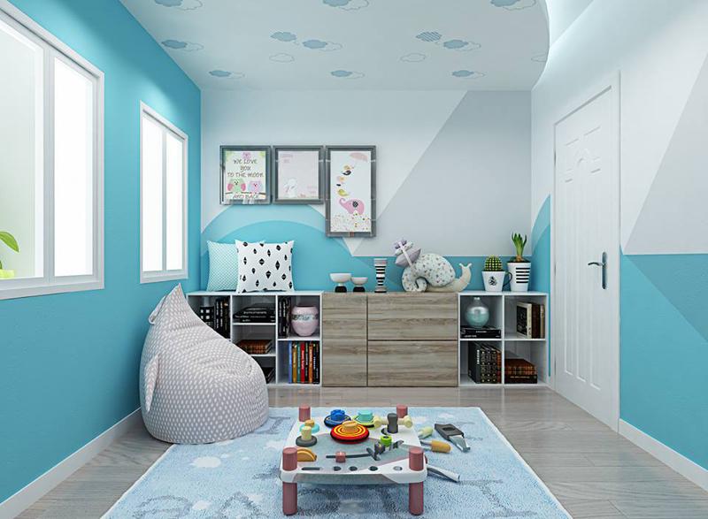 Nội thất phòng ngủ trẻ em với màu sắc sinh động 03