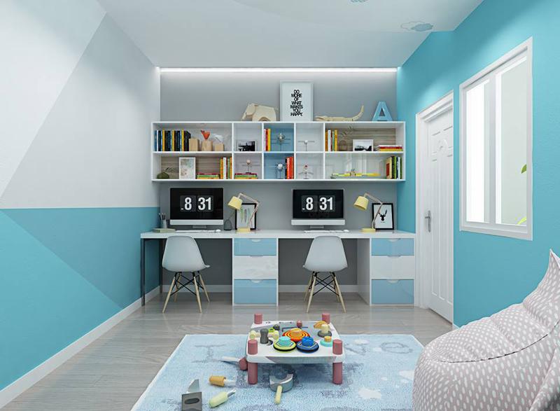 Nội thất phòng ngủ trẻ em với màu sắc sinh động 04