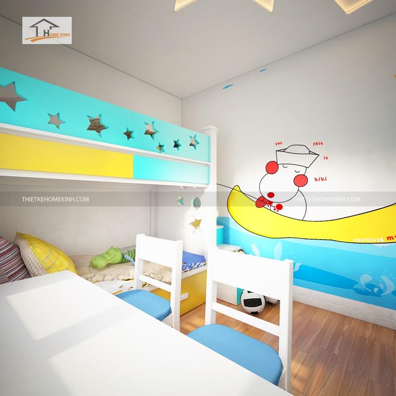 thiết kế nội thất trẻ em - thiết kế home xinh