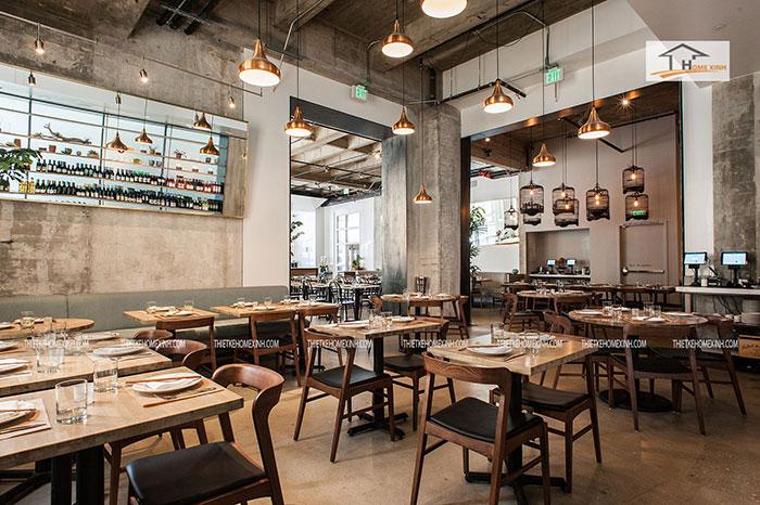 cách bố trí nội thất nhà hàng