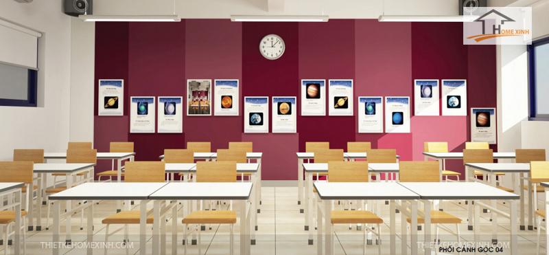 Bàn ghế học sinh đẹp - thiết kế HomeXinh