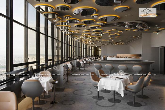 Nguyên lý thiết kế nhà hàng về kiểu dáng và không gian