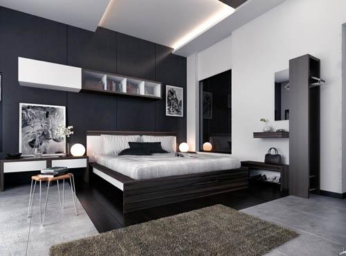thiết kế nội thất màu đen - thiết kế home xinh