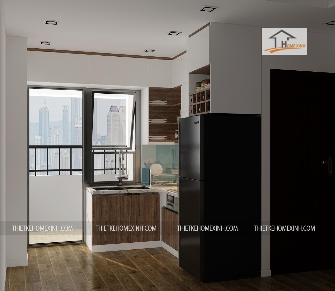 thiết kế phòng bếp - thiết kế home xinh