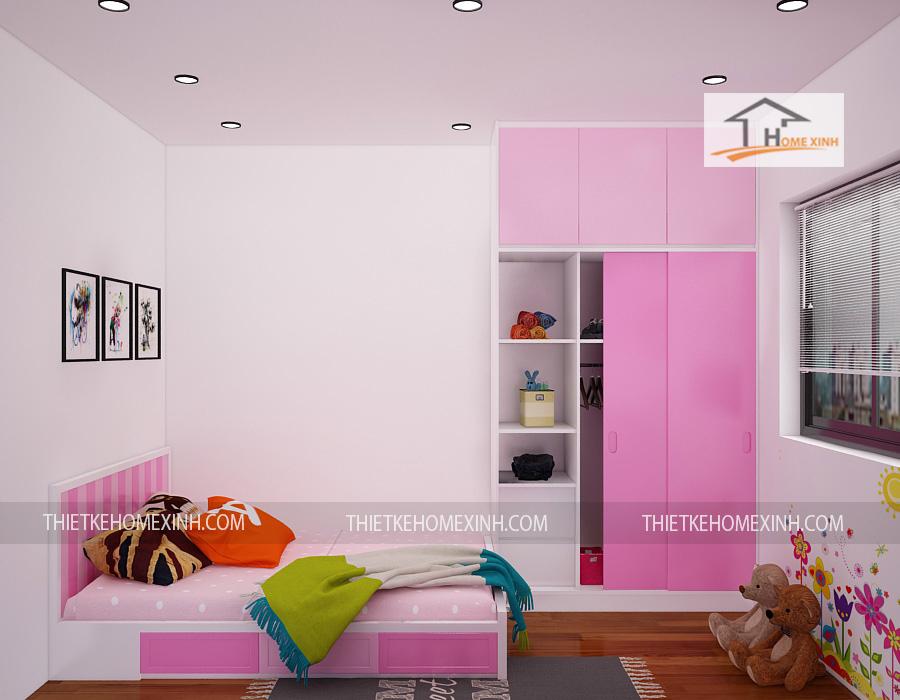 thiết kế phòng ngủ con - thiết kế home xinh