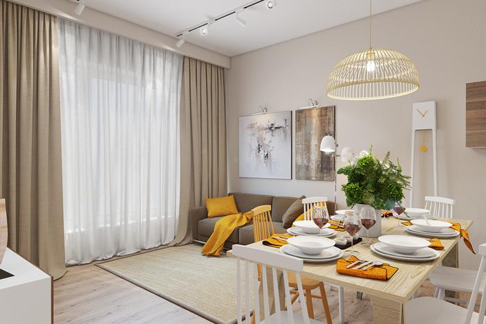 25 mẫu phòng khách với tông màu vàng sang trọng