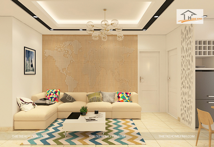 thiet ke phong khach 01 - Thiết kế nội thất phòng khách chung cư Hà Nội