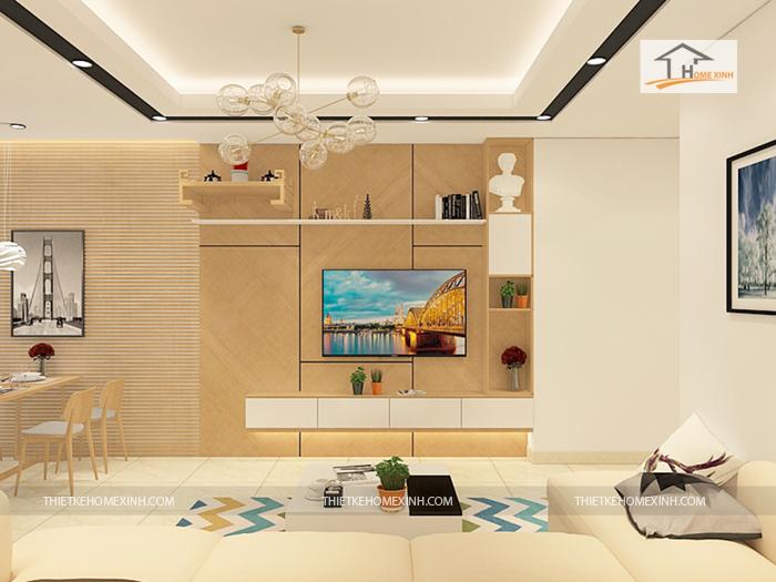 thiet ke phong khach 03 - Thiết kế nội thất phòng khách chung cư Hà Nội