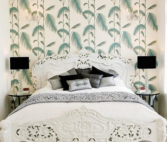 Cách trang trí tường phòng ngủ bằng giấy dán tường - HomeXinh