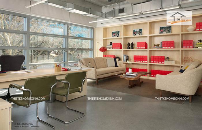 Hình 1: Thiết kế nội thất văn phòng hiện đại 2016