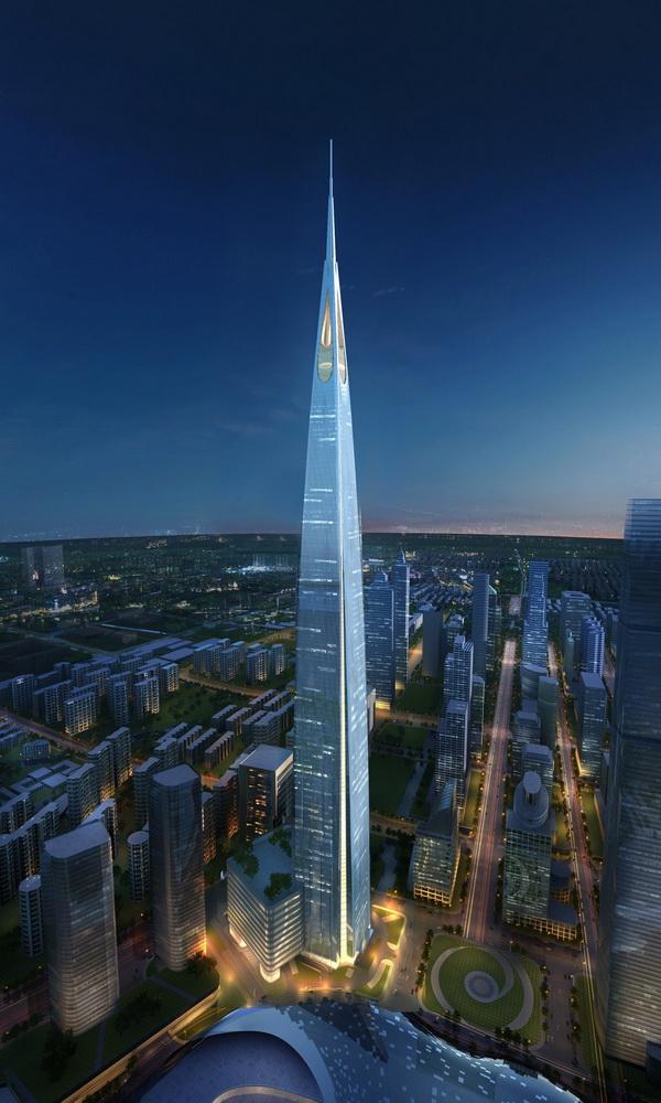 Tháp Suzhou Zhongnan (Tô Châu, Trung Quốc) cao 729m