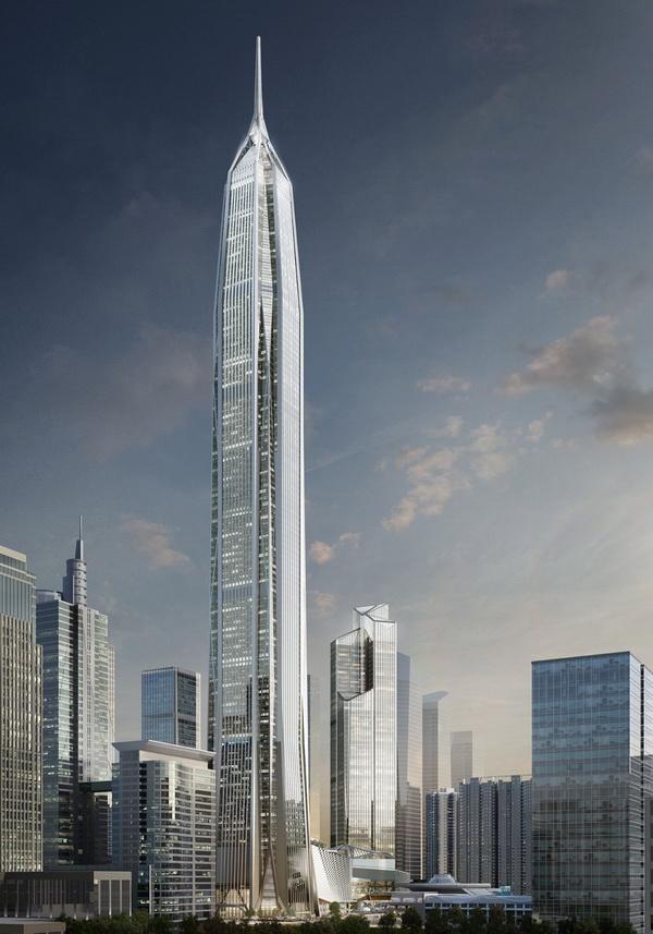 Trung tâm tài chính Ping An Finance Center (Thẩm Quyến, Trung Quốc) cao 660m