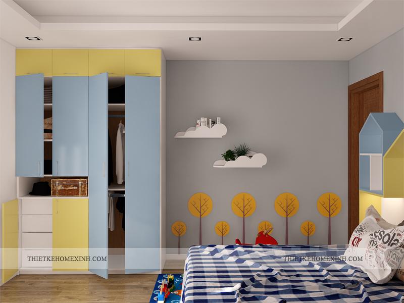 Ảnh 2: Thiết kế phòng ngủ trẻ em sinh động