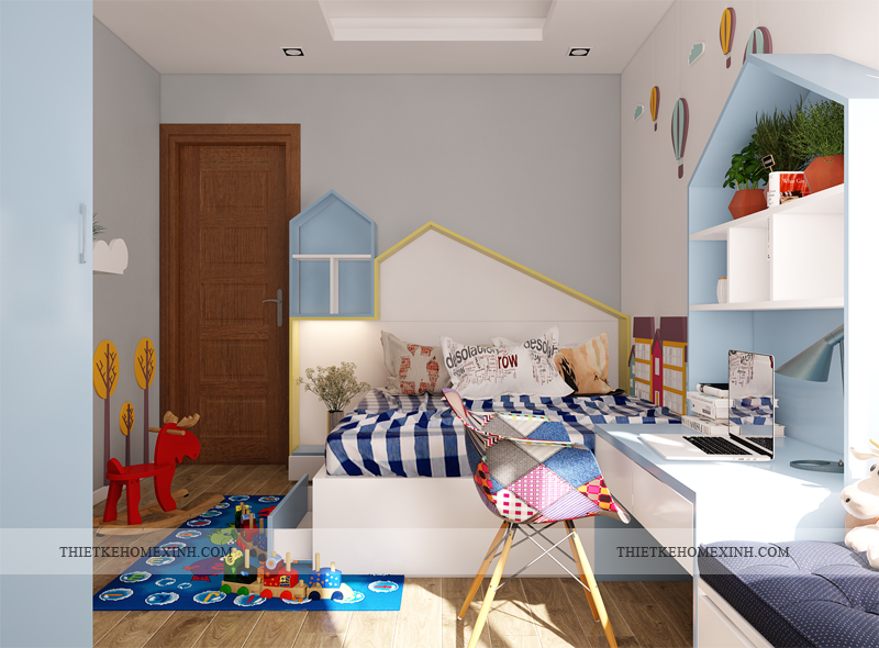 Ảnh 3: Thiết kế phòng ngủ trẻ em sinh động